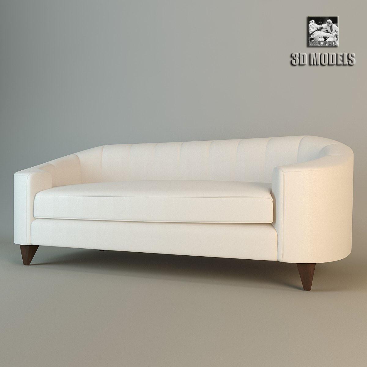 baker oval sofa max. Black Bedroom Furniture Sets. Home Design Ideas
