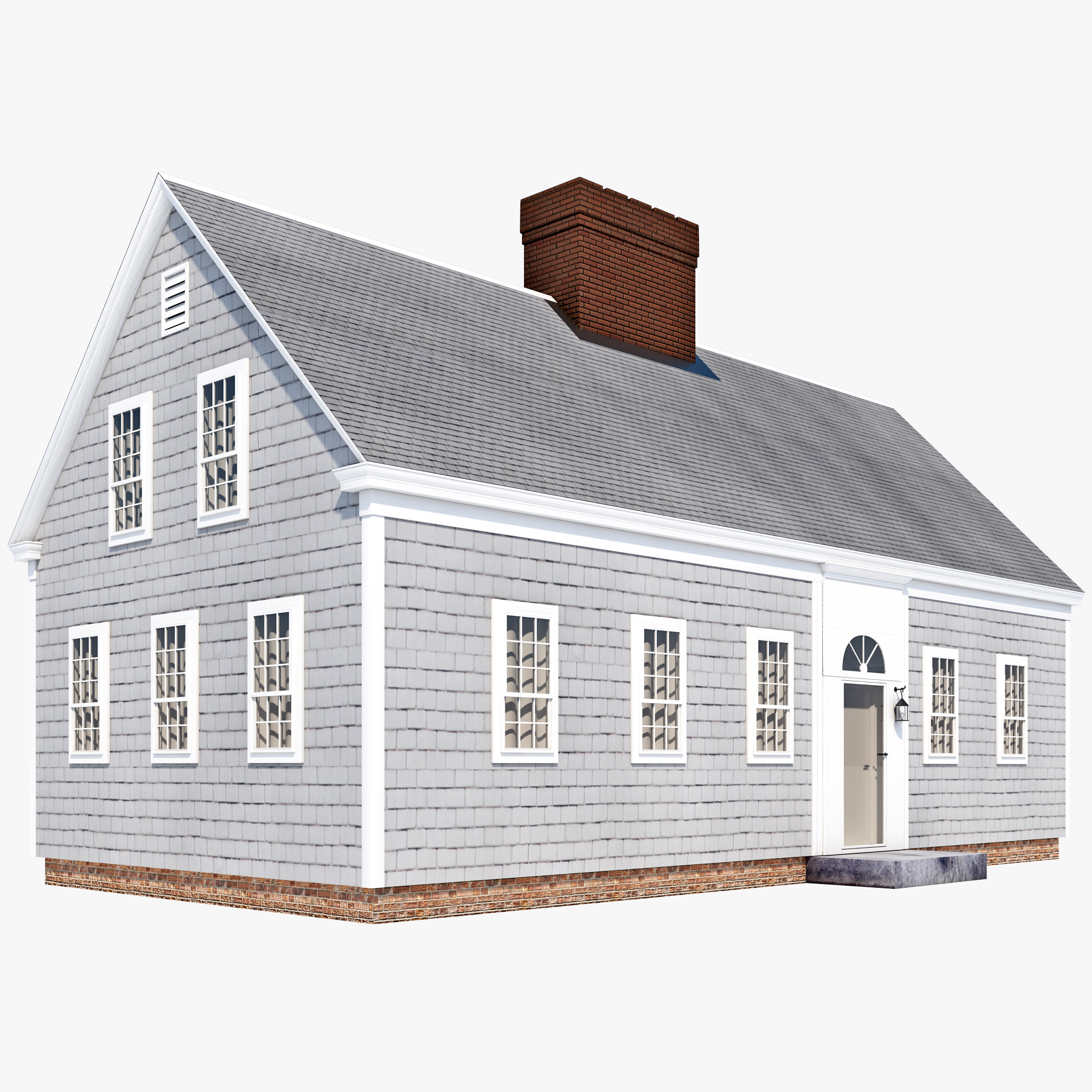 3d model cape cod house Cape cod model homes