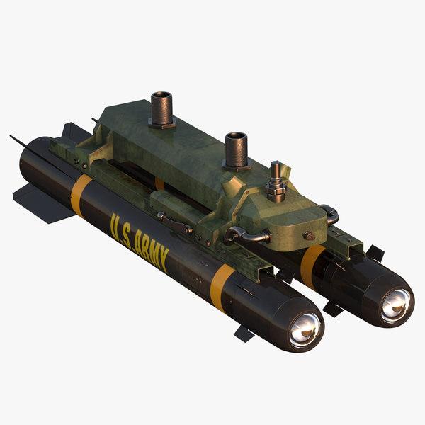 Lockheed Martin - HELLFIRE II Missile 3D Models