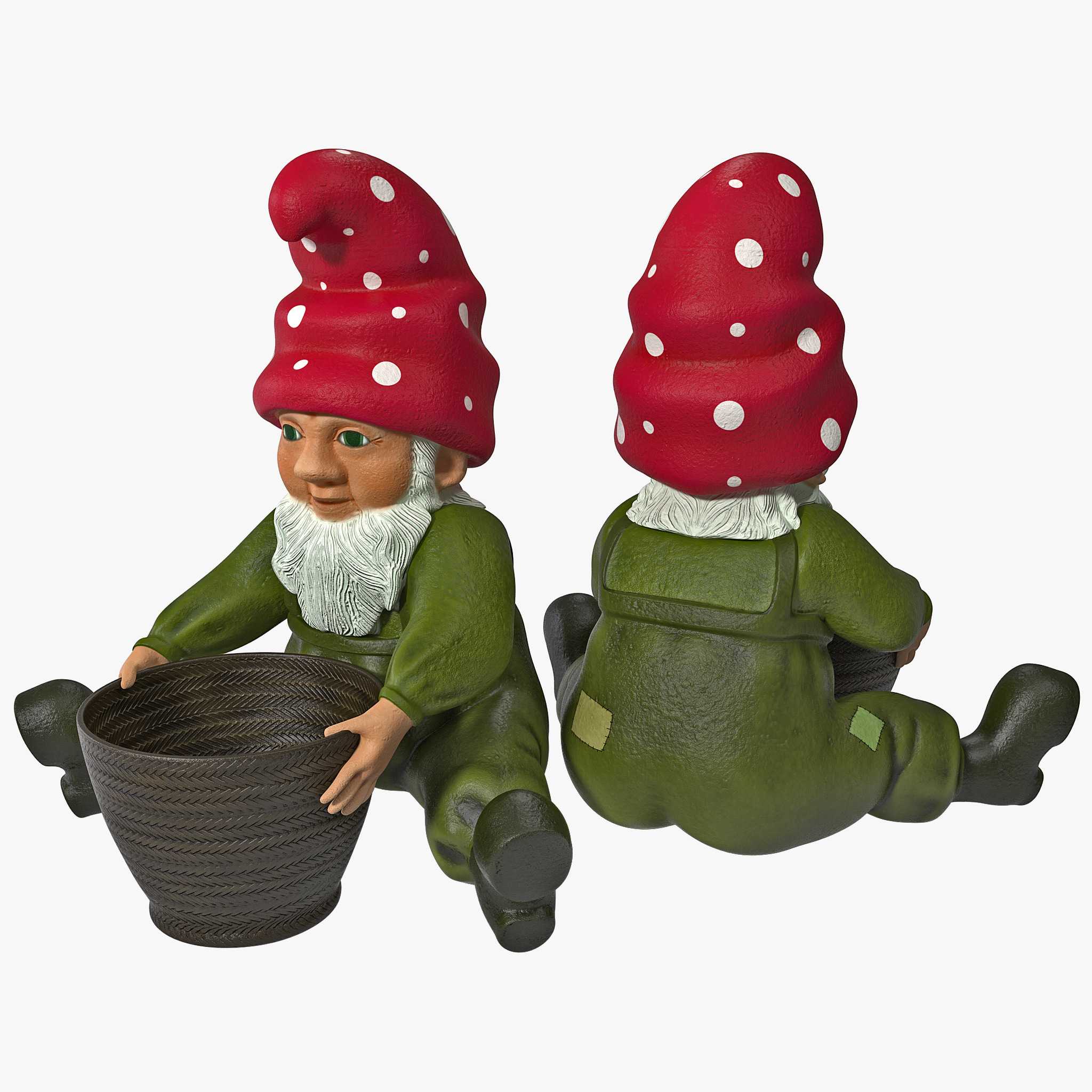 Lawn Gnome with Basket