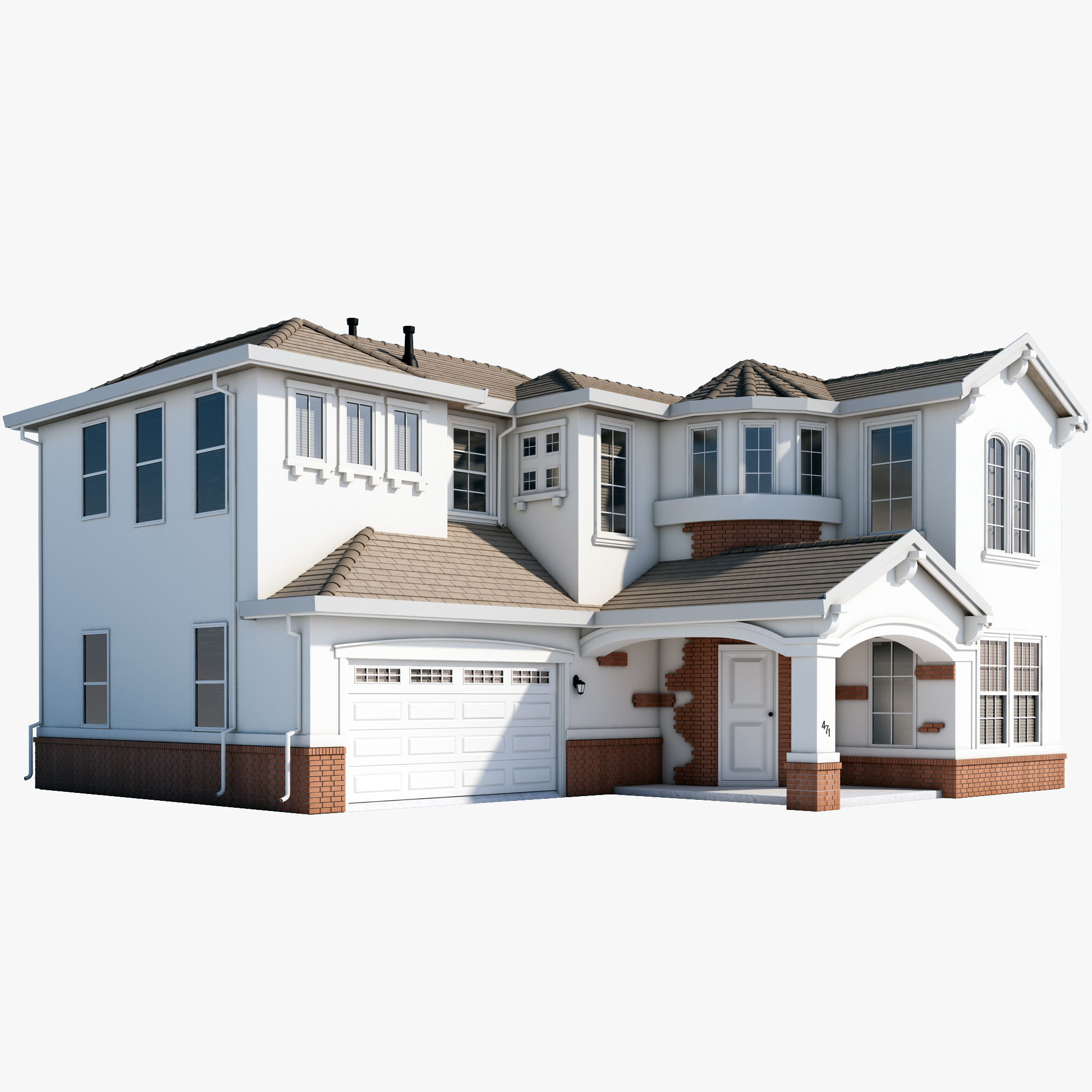 Mcmansion house 3d max House designer 3d