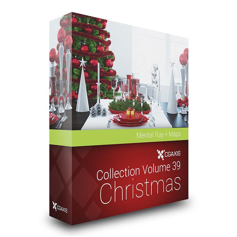 CGAxis Models Volume 39 Christmas MentalRay