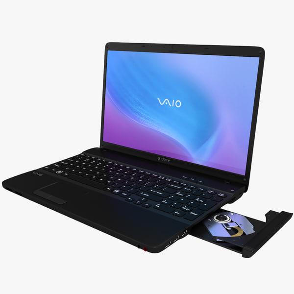 Laptop Sony VAIO E Series Black 3D Models