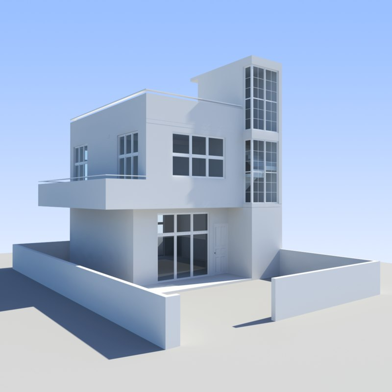 3d max house towns for 3d max house model