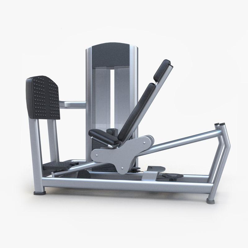 3d seated leg press