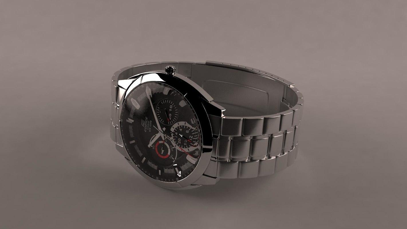 watch casio wr 100m 3d model