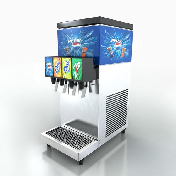 Soft Drink Dipenser 3D Models