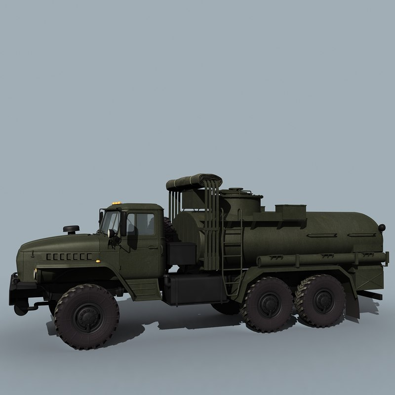 3ds russian army atz 7 ural 4320
