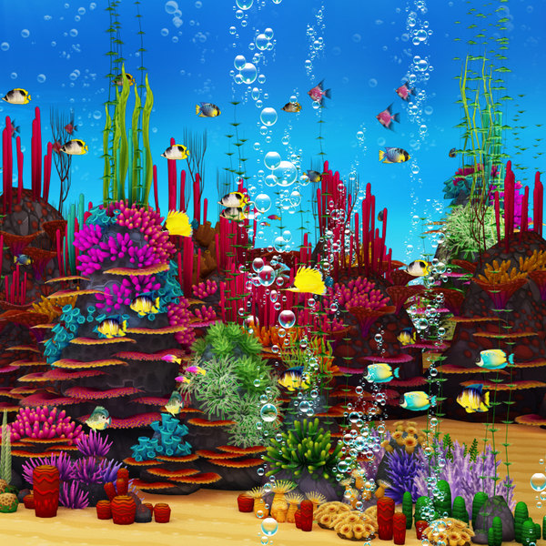 Coral Forest Texture Maps