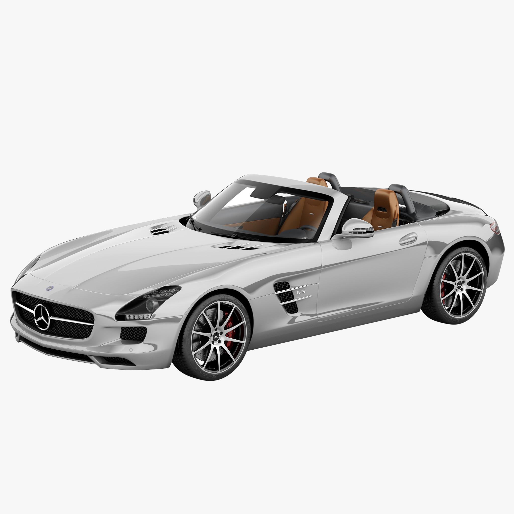 Mercedes benz sls amg 3d model for Mercedes benz sls amg toy car