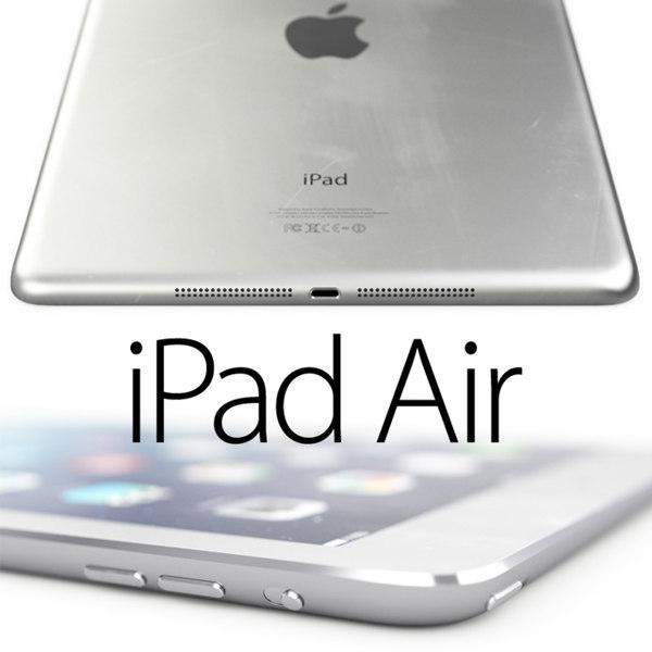 iPad Air HIGH DETAIL 3D Models