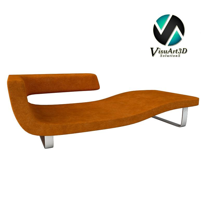 Chaise longue 3d model for Divan vs chaise