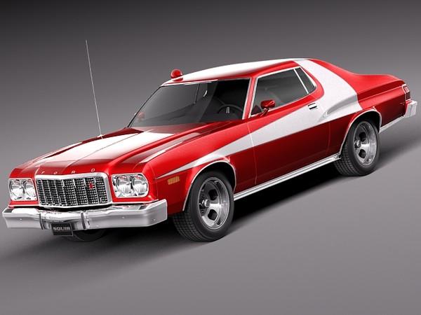 Ford Gran Torino 1975 Starsky n Hutch 3D Models