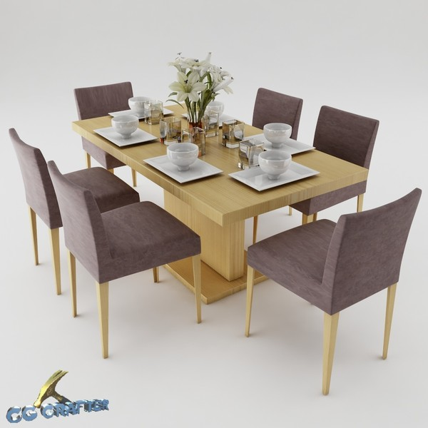 Dining table set 19 3D Models