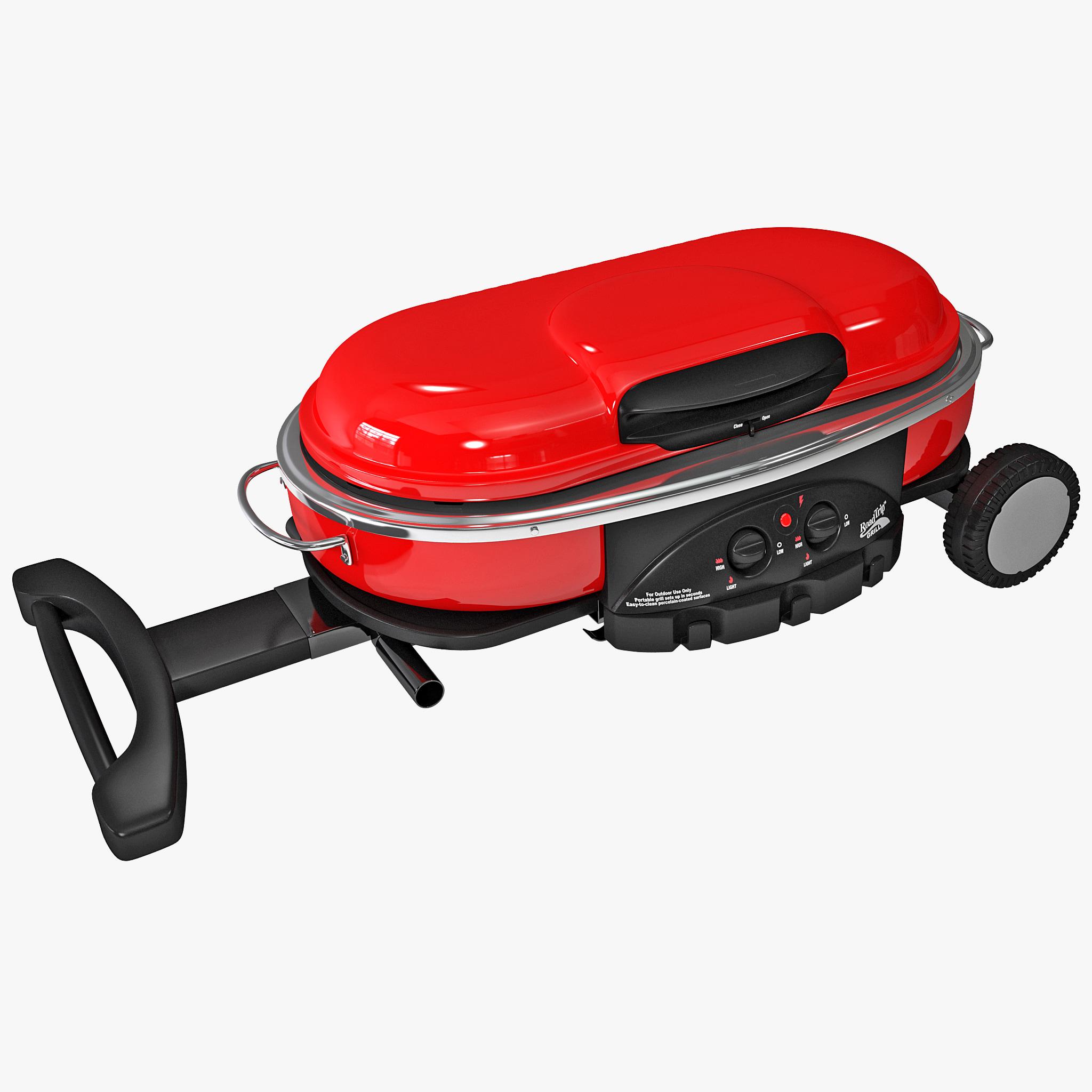 D model of coleman road trip grill