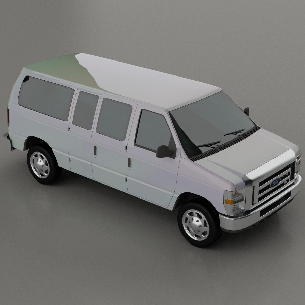 3d E 150 Van Model