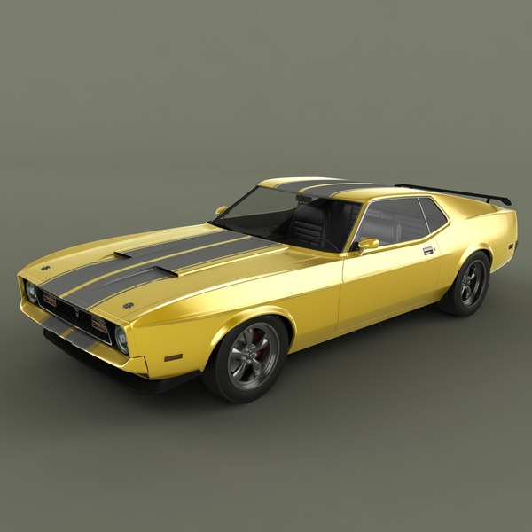 Ford Mustang Mach1 1971 3D Models