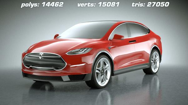 Tesla Model X midpoly 3D Models