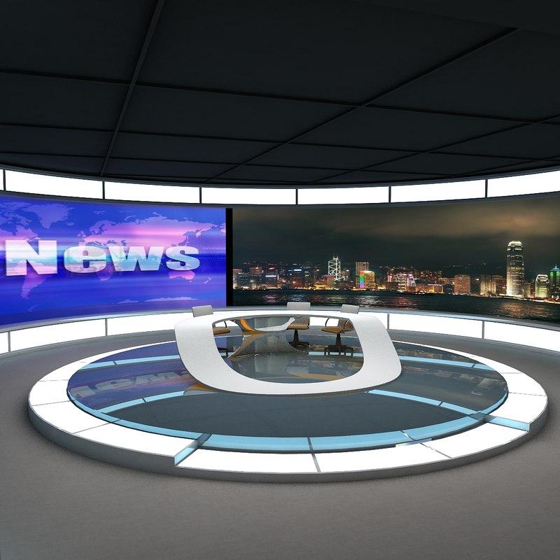 Tv News Studio render 01 jpg