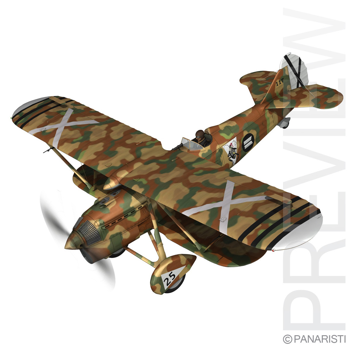 Fiat CR.32 - Italy Air Force - XVI Gruppo