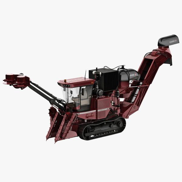 Sugar Cane Harvester Case IH 800 3D Models