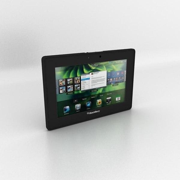 BlackBerry 4G LTE PlayBook 3D Models