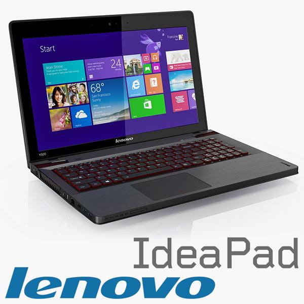 Lenovo IdeaPad Y Series Y500 Y510p 3D Models