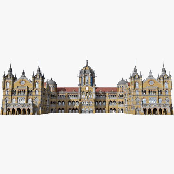 Railway Station Chhatrapati Shivaji Terminus 3D Models