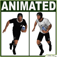 rugby player 3D models