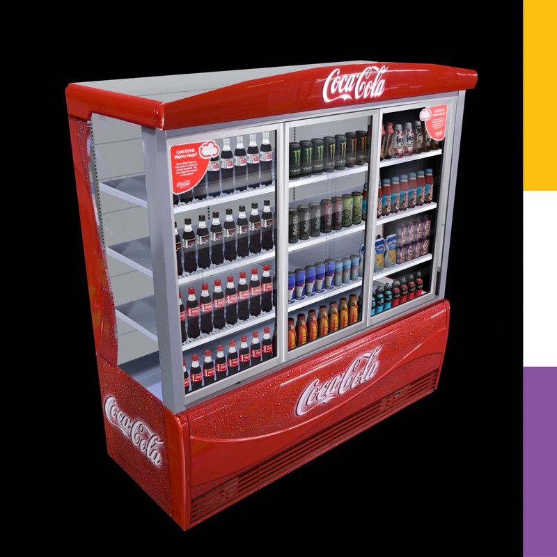 Drinks Fridge Coca-Cola Ledo