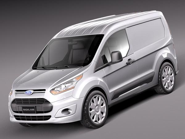 Ford Transit Connect Cargo 2014 Short 3D Models