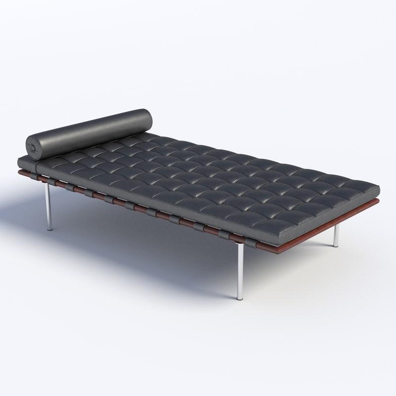 obj bed mies van der rohe. Black Bedroom Furniture Sets. Home Design Ideas