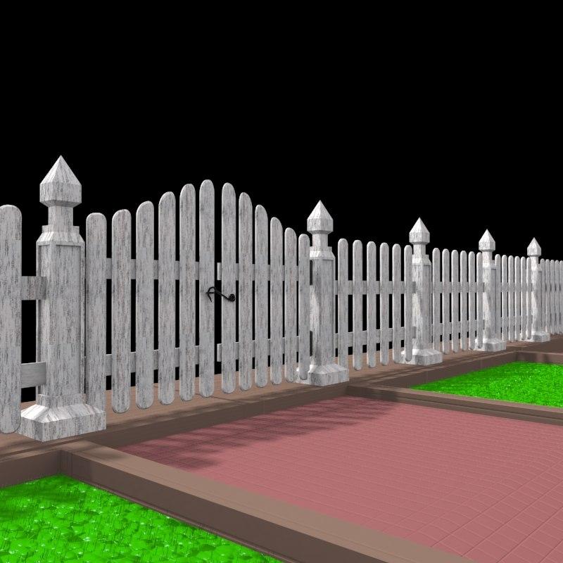 Entrance Gate 3d Model 3d Model Wall Door Gate