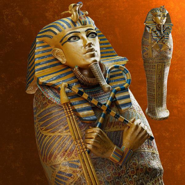 Sarcophagus of Tutankhamun 3D Models