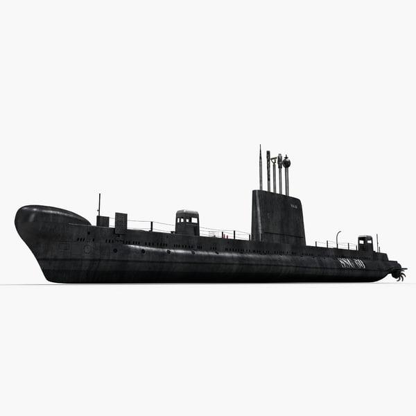 Oberon Class Submarine HMAS Onslow S-60 3D Models