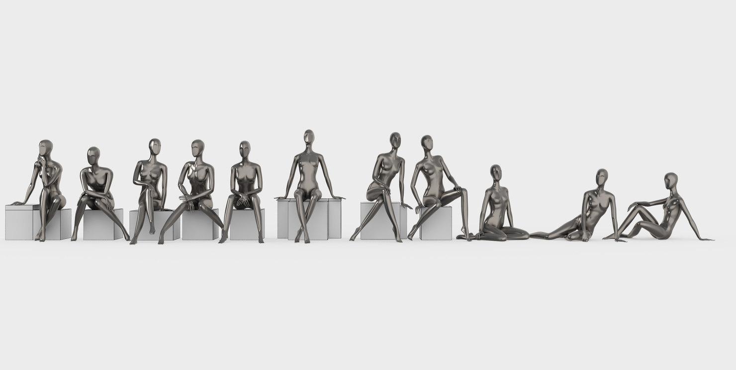 Female mannequins set 3