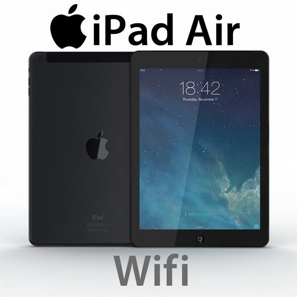 iPad Air Wifi Realistic 3D Models