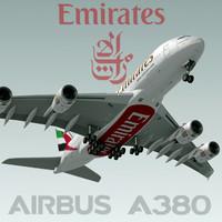 A380 emirates 3D models