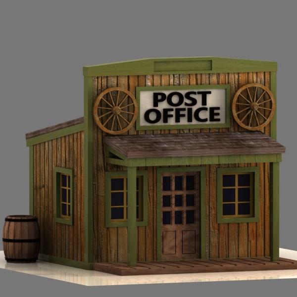 Cartoon Post Office Building 40% complete (success)