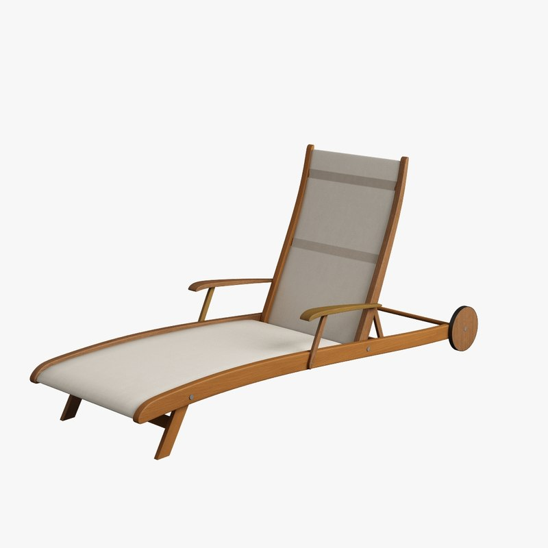 3d chaise lounge for Chaise quadriceps