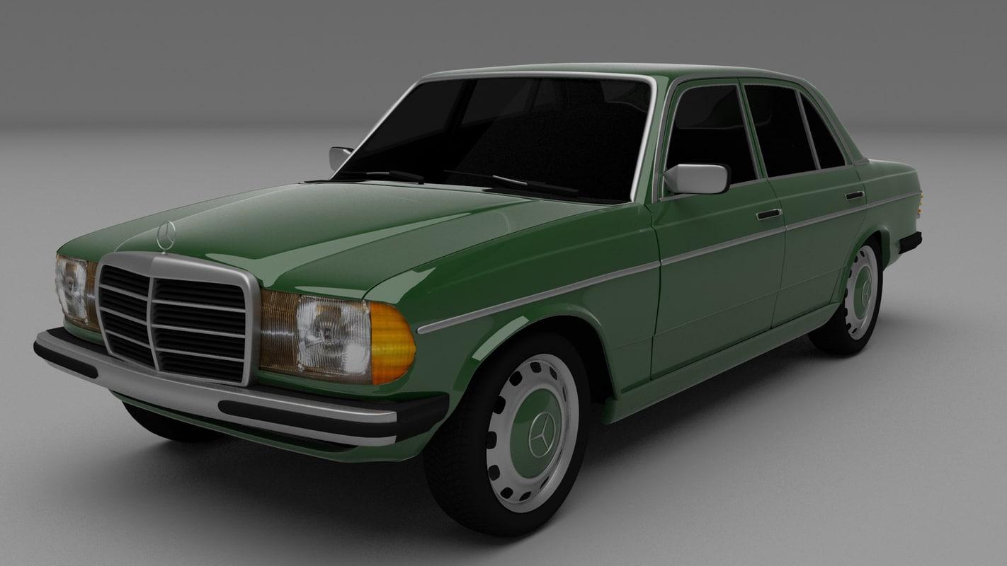 3d mercedes w123 model for Mercedes benz old models