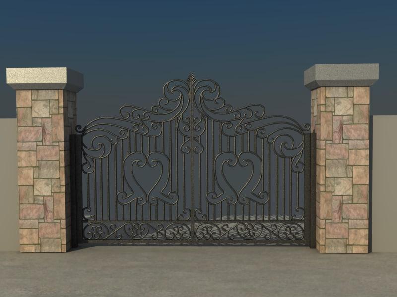 Entrance Gate 3d Model House Gate Vol3 3d Model