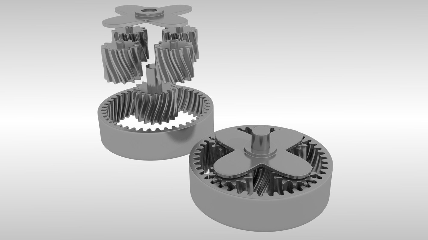 Animated planetary gears