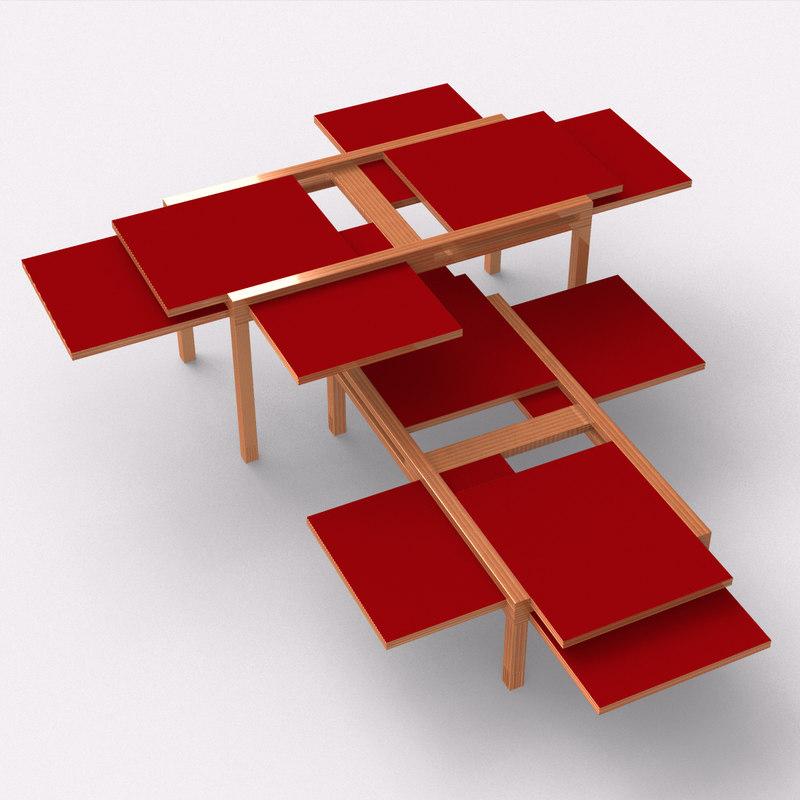 Sculptures Jeux Par6 coffee table