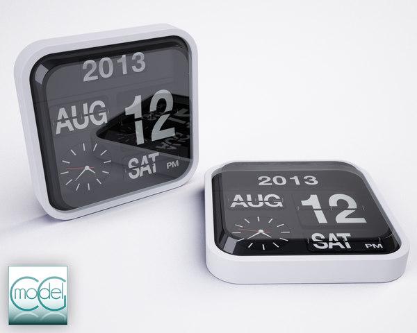 Karlsson Flip Clock 3D Models