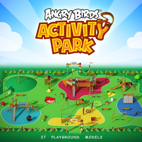 Playground Angry Birds Play Park 3D Models