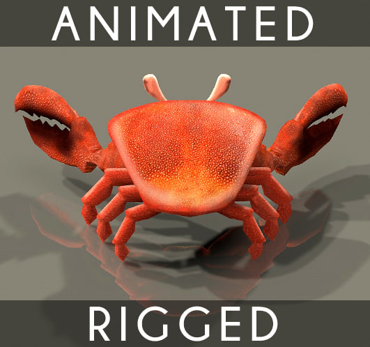 Crab Animated 4 texture bumpmap Texture Maps