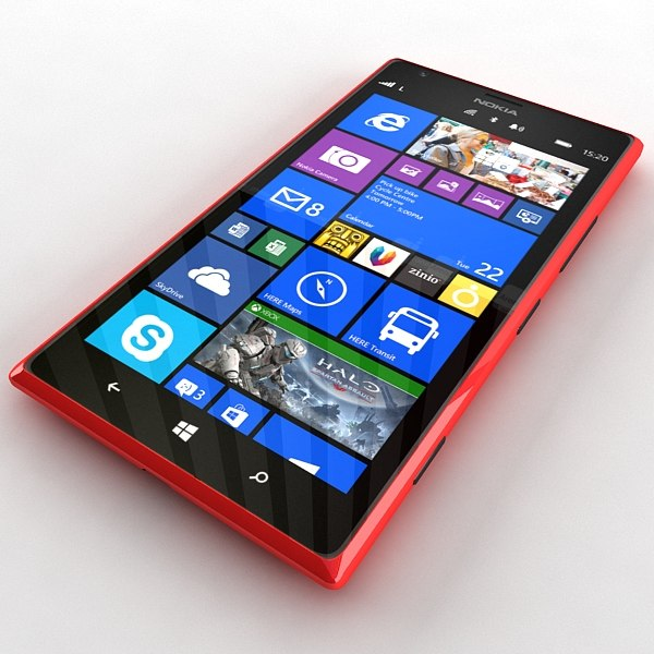 Nokia Lumia 1520 in Red Colour 3D Models