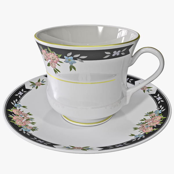 Tea Cup and Saucer 3D Models