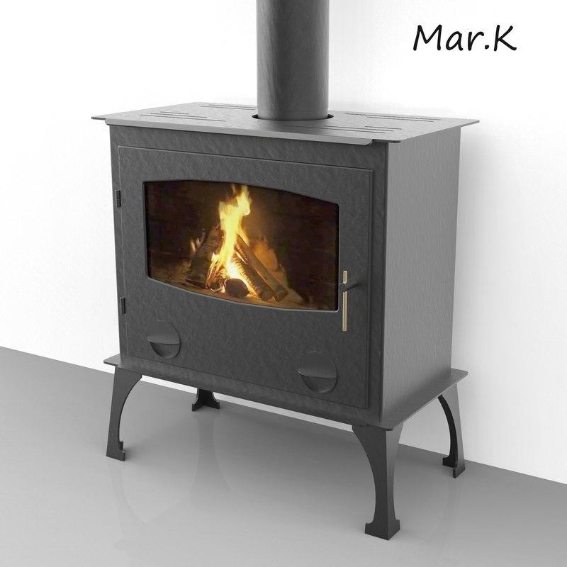 fireplace haas sohn nordic 3d model. Black Bedroom Furniture Sets. Home Design Ideas